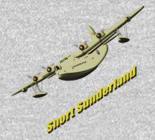 Short Sunderland Flying Boat WWII T-shirt & leggings One Piece - Short Sleeve