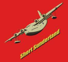 Short Sunderland Flying Boat WWII T-shirt & leggings One Piece - Long Sleeve