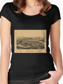 Panoramic Maps Schaghticoke NY Women's Fitted Scoop T-Shirt