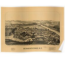 Panoramic Maps Schaghticoke NY Poster
