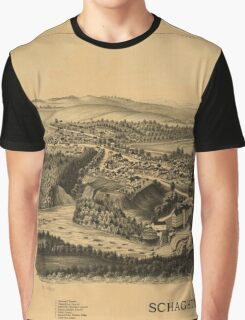 Panoramic Maps Schaghticoke NY Graphic T-Shirt