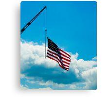 Flag pole on a Crane Canvas Print