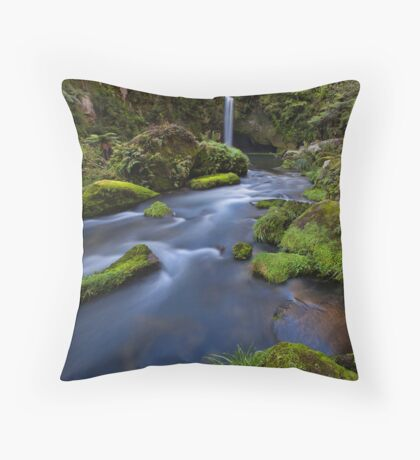 Omanawa river drift Throw Pillow