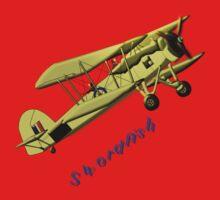 British WWII Swordfish Biplane T-shirt and leggings One Piece - Long Sleeve