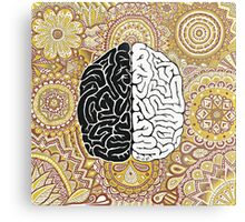 Big Brain Metal Print