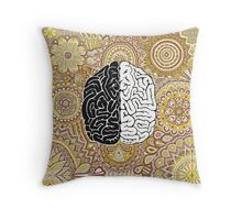 Big Brain Throw Pillow