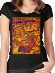 0377 Abstract Thought Women's Fitted Scoop T-Shirt
