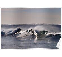 shimmering waves Poster