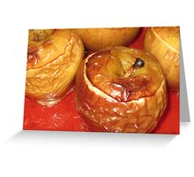 Halloween Baked Apples Greeting Card