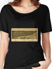 Panoramic Maps City of Tacoma WT western terminus of NPRR Puget Sound 1885 Women's Relaxed Fit T-Shirt