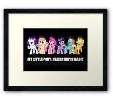 Pony Poster Framed Print