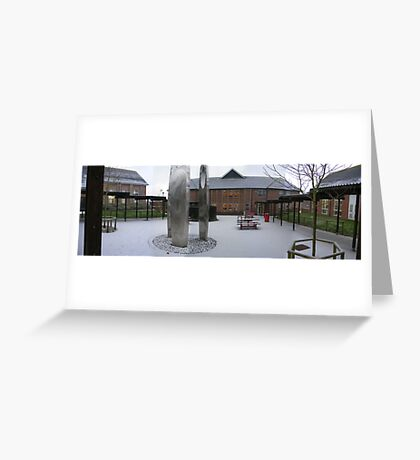 Snow at the Thomas Hardye School Greeting Card