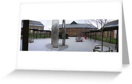 Snow at the Thomas Hardye School by cadellin