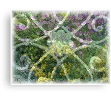 Flowerfences Canvas Print