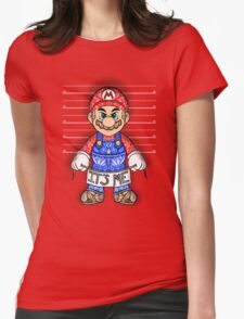 Evil Mario Womens Fitted T-Shirt