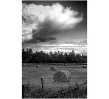 Clouds over Hayrolls  Photographic Print