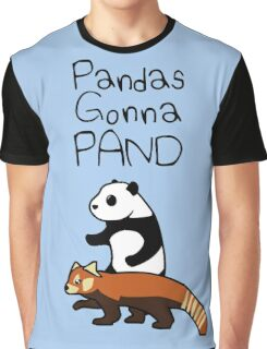 Pandas and Red Pandas Gonna Pand Graphic T-Shirt