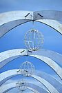 Arches, Globes & Sky by Laurie Minor