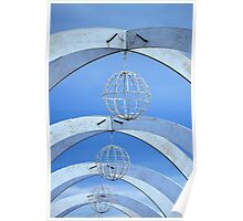Arches, Globes & Sky Poster