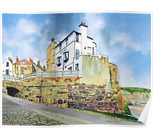 The Bay Hotel, Robin Hoods Bay, North Yorkshire Coast Poster