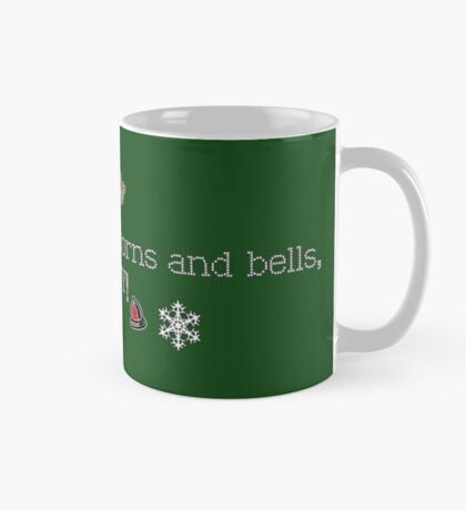Snowflakes and acorns and bells,OH MY! (white) Mug