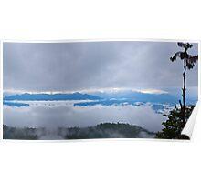 Trekking through the clouds Poster