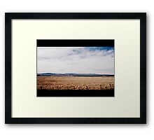A Land of Sweeping Plains Framed Print