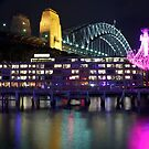 Vivid Sydney 2012 - Chandelier and Harbour Bridge by Andi Surjanto