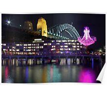 Vivid Sydney 2012 - Chandelier and Harbour Bridge Poster
