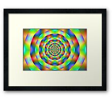 Psychedelic Rings Framed Print