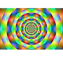 Psychedelic Rings Photographic Print