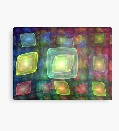 Cube Central Metal Print