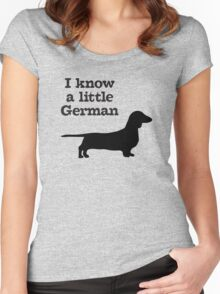 I Know A Little German Dachshund Women's Fitted Scoop T-Shirt