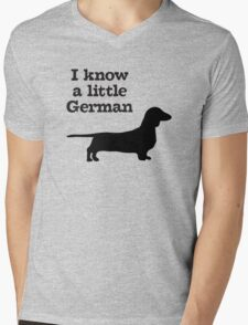 I Know A Little German Dachshund Mens V-Neck T-Shirt