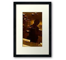 Somebody in the mirror  Framed Print