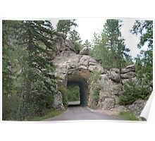 Custer State Park tunnel - South Dakota Poster