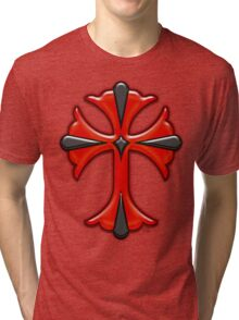 Victorian Design Red Cross Tri-blend T-Shirt