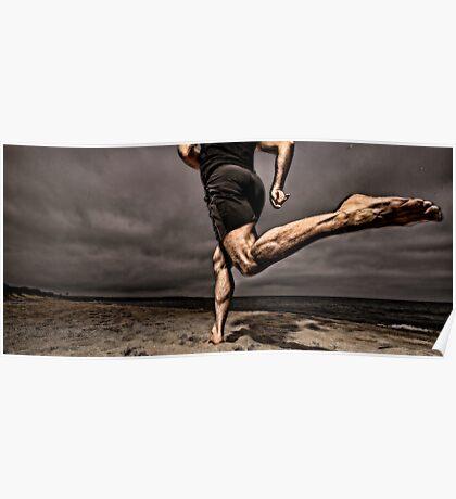 Barefoot running Poster
