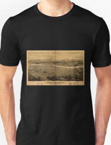 Panoramic Maps Portland Oregon Unisex T-Shirt
