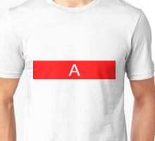 Alphabet Collection - Alpha Red Unisex T-Shirt
