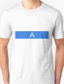 Alphabet Collection - Alpha Blue Unisex T-Shirt
