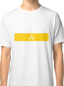 Alphabet Collection - Alpha Yellow Classic T-Shirt