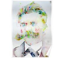 FRIEDRICH NIETZSCHE watercolor portrait.7 Poster