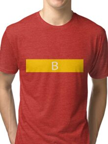 Alphabet Collection - Bravo Yellow Tri-blend T-Shirt