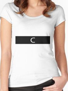 Alphabet Collection - Charlie Black Women's Fitted Scoop T-Shirt