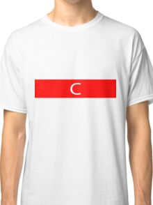 Alphabet Collection - Charlie Red Classic T-Shirt