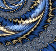 Blue Gold Spiral Abstract Sticker