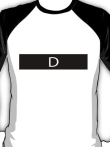 Alphabet Collection - Delta Black T-Shirt