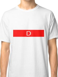 Alphabet Collection - Delta Red Classic T-Shirt