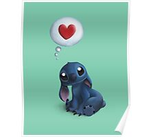 Stitch Loves You. Poster